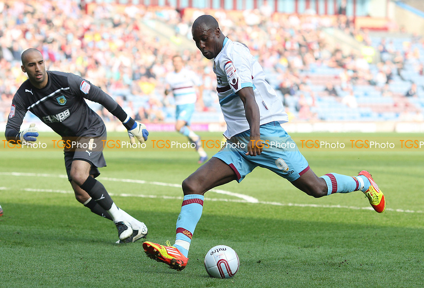 Carlton Cole of West Ham beats Burnley goalkeeper Lee Grant but he could not hit the target - Burnley vs West Ham United, npower Championship at Turf Moor, Burnley - 24/03/12 - MANDATORY CREDIT: Rob Newell/TGSPHOTO - Self billing applies where appropriate - 0845 094 6026 - contact@tgsphoto.co.uk - NO UNPAID USE..