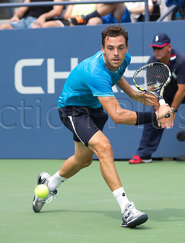 31.08.2015. New York, NY, USA.  Marco Cecchinato (ITA)  US Open 2015 Grand Slam ITF ATP Tennis Mens 1st round Flushing Meadows 31st August 2015.