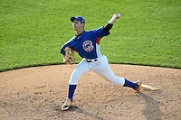 Dylan Cyphert (52) of Cranberry High School in Oil City, Pennsylvania playing for the Chicago Cubs scout team during the East Coast Pro Showcase on July 31, 2014 at NBT Bank Stadium in Syracuse, New York.  (Mike Janes/Four Seam Images)