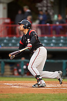 Richmond Flying Squirrels designated hitter Mac Williamson (7) hits a home run during a game against the Erie Seawolves on May 19, 2015 at Jerry Uht Park in Erie, Pennsylvania.  Richmond defeated Erie 8-5.  (Mike Janes/Four Seam Images)