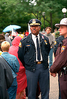 Police chief William Finney in crowd at 9/11 memorial service.  St Paul Minnesota USA