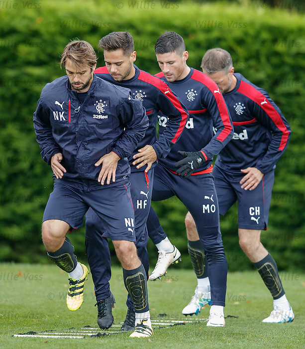 Niko Kranjcar, Harry Forrester, Michael O'Halloran and Clint Hill