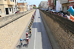 The peloton pass through Almussafes during Stage 4 of La Vuelta 2019 running 175.5km from Cullera to El Puig, Spain. 27th August 2019.<br /> Picture: Ann Clarke | Cyclefile<br /> <br /> All photos usage must carry mandatory copyright credit (© Cyclefile | Ann Clarke)