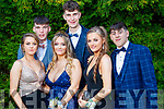 Clodagh Evans, Dylan O'Neill, Shauna Murphy, John O'Rourke, Sinead Coffey and Killian Murphy, pictured at MIlltown Presentation Secondary School Debs, held at the Earl of Desmond Hotel, Tralee, on Thursday, July 25th last.