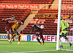 Gaston Ramirez of Middlesbrough heading the ball towards goal to score the first goal of the game - Sky Bet Championship - Middlesbrough vs Wolverhampton Wanderers - Riverside Stadium - Middlesbrough - England - 4th of March 2016 - Picture Jamie Tyerman/Sportimage