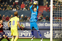 Cifuentes (goalkeeper; Cádiz CF) during the Spanish football of La Liga 123, match between CA Osasuna and AD Alcorcón at the Sadar stadium, in Pamplona (Navarra), Spain, on Sunday, January 6, 2019.