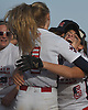 MacArthur teammates Kristen DeCicco #6, right, and Ashley Budrewicz #4 celebrate after the Generals' 2-0 win over Island Trees in Game 2 of the best-of-three Nassau County varsity softball Class A final at Mitchel Athletic Complex on Wednesday, May 24, 2017. MacArthur won the series two games to none.