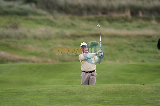 Day 3 of the 100th Irish PGA championship at Seapoint Golf Club, Co Louth..David Higgins playing for the 16th green.Picture Fran Caffrey/www.golffile.ie.