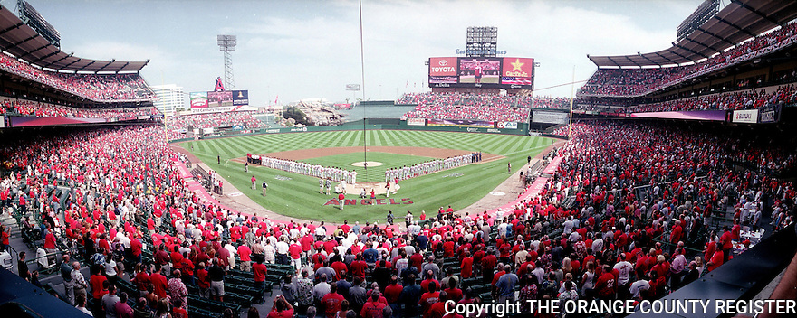 Panorama of 2004 Angels opening playoff game on 10/4/04 - Portfolio only