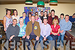 Mike Courtney Knocknagoshel seated centre who celebrated his 40th birthday with his family and friends in Roche's bar Knocknagoshel on Friday night