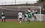 Action from the first-half as hosts Edinburgh City take on Scottish Cup winners Hibernian a pre-season friendly at Meadowbank Stadium. The match was City's first at the Commonwealth Stadium since they gained promotion from the Lowland League to the Scottish League in May 2016. A record crowd for a City match of 2500 spectators saw the visitors run out 6-1 winners.