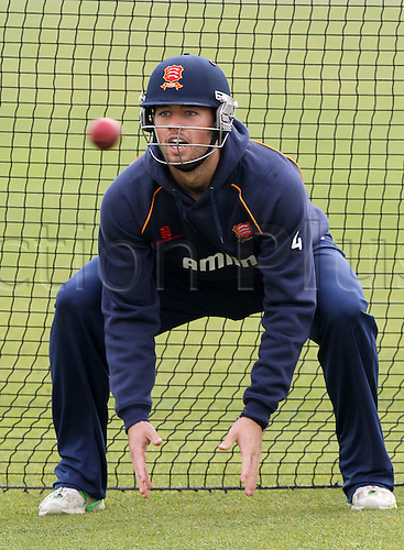 27.03.2014 Chelmsford, England.   Ben Foakes in training prior to the Essex and Surrey Pre-Season Friendly match from The Essex County Ground, Chelmsford