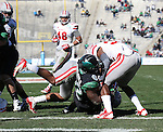 DENTON, TX  JANUARY 1:  Antoinne Jimmerson #22 of the North Texas Mean Green scores a touchdown against the UNLV Rebels during the Heart of Dallas Bowl at Cotton Bowl Stadium in Dallas on January 1, 2014 in Dallas, TX.  Photo by Rick Yeatts North Texas won 36-14 over UNLV.