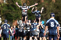 Saturday 3rd March 2012; Action during the Medallion Shield semi-final between Wallace High School and Dromore High School at Osborne Park, Belfast. <br /> Picture credit: John Dickson / DICKSONDIGITAL