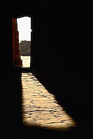 Sunlight through doorway,Temple of Karnak at modern day Luxor or ancient Thebes, Egypt
