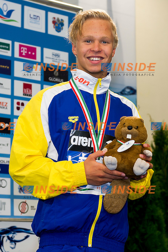 Johansson Victor SWE<br /> 1500 Freestyle Men Final Bronze Medal<br /> LEN 43rd Arena European Junior Swimming Championships<br /> Hodmezovasarhely, Hungary <br /> Day02 07-07-2016<br /> Photo Andrea Masini/Deepbluemedia/Insidefoto