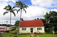 Bond Memorial Public Library. Kapa'au, Big Island, Hawaii