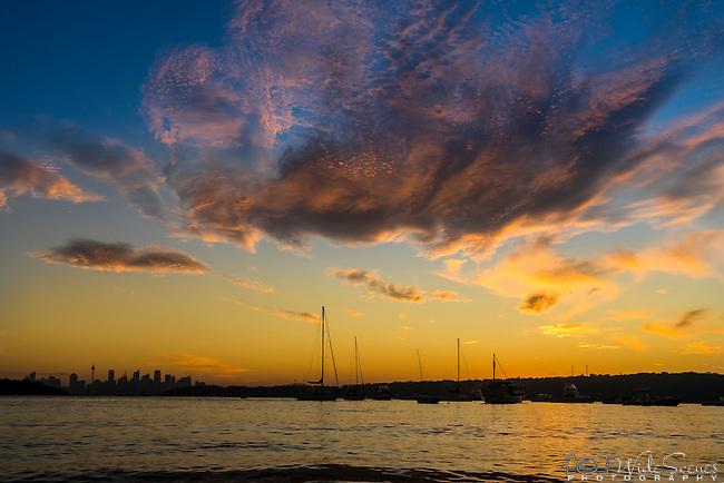 Sunset over Watsons Bay, Sydney, NSW, Australia