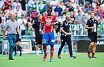 Stockholm 2014-07-20 Fotboll Superettan Hammarby IF - &Ouml;sters IF :  <br /> &Ouml;sters  Alhaji Gero deppar<br /> (Foto: Kenta J&ouml;nsson) Nyckelord:  Superettan Tele2 Arena Hammarby HIF Bajen &Ouml;ster &Ouml;IF depp besviken besvikelse sorg ledsen deppig nedst&auml;md uppgiven sad disappointment disappointed dejected