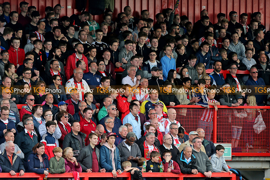 Stevenage fans during Stevenage vs Barnet, Sky Bet EFL League 2 Football at the Lamex Stadium on 1st April 2017
