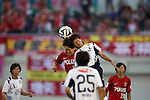 (L to R) Michi Goto (Reds Ladies), Mai Kyokawa (INAC),<br /> AUGUST 17,2014 - Football / Soccer : 2014 Nadeshiko League, between Urawa Reds Ladies 0-1 INAC KOBE LEONESSA at Urawakomaba Stadium, Saitama, Japan. (Photo by Jun Tsukida/AFLO SPORT)