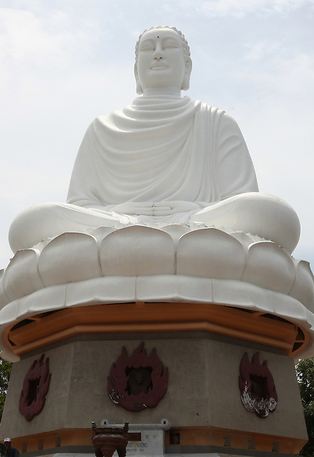 The Giant Seated Buddha sits atop a  hill at the Long Son Pagoda in Nha Trang, Vietnam. July 14, 2011.