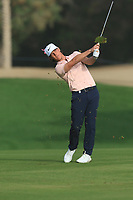Kristoffer Broberg (SWE) on the 3rd fairway during Round 2 of the Omega Dubai Desert Classic, Emirates Golf Club, Dubai,  United Arab Emirates. 25/01/2019<br /> Picture: Golffile | Thos Caffrey<br /> <br /> <br /> All photo usage must carry mandatory copyright credit (© Golffile | Thos Caffrey)