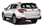 Car pictures of rear three quarter view of a 2017 Subaru Outback Premium 5 Door Wagon angular rear