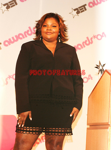 Mo'Nique who is host of the 2004 BET Awards, at the 2004 BET Awards Nominees announcement ceremony at the Renaissance Hotel in Hollywood May 11th 2004...