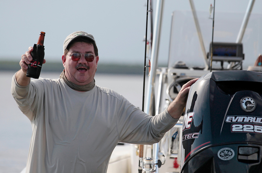 Steve Scalish with a cheers to his first trip to the Florida Everglades National Park out of Chokoloskee Island and the 10,000 Islands National Wildlife Refuge. Photo/Andrew Shurtleff