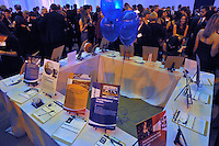 Silent Auction. Yale University Department of Athletics Blue Leadership Ball 2009. Formal Dinner at the Lanman Center, Presentation of Awards to Blue Leader Honorees and Speeches.