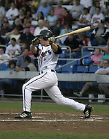 September 3, 2004:  Brian Bixler of the Williamsport Crosscutters during a game at Bowman Field in Williamsport, PA.  Williamsport is the Short Season Single-A NY-Penn League affiliate of the Pittsburg Pirates.  Photo By Mike Janes/Four Seam Images