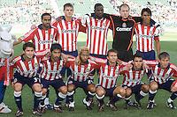 Chivas USA starting XI. FC Dallas defeated Chivas USA 2-0 at Home Depot Center Stadium, in Carson, Calif., on Sunday, April 20, 2008.