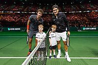 Rotterdam, The Netherlands, 16 Februari, 2018, ABNAMRO World Tennis Tournament, Ahoy, Tennis, Robin Haase (NED), Roger Federer (SUI)<br /> <br /> Photo: www.tennisimages.com
