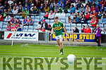 Donal O'Sullivan Kerry in action against  Louth in the All Ireland Minor Football Quarter Finals at O'Moore Park, Portlaoise on Saturday.