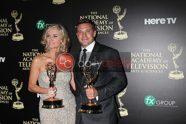 LOS ANGELES - JUN 22:  Eileen Davidson, Billy Miller at the 2014 Daytime Emmy Awards Press Room at the Beverly Hilton Hotel on June 22, 2014 in Beverly Hills, CA