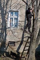 Tomislav partage avec sa famille le même petit immeuble du centre-ville. Il travaille au noir sur les cours de tennis de la capitale à poser ou à entretenir le revêtement au sol. La trentaine, il n'a jamais trouvé d'emploi déclaré, son cas n'est pas isolé.