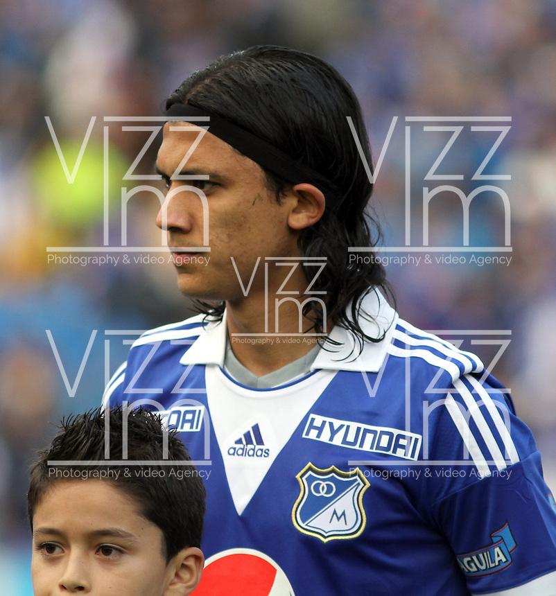 BOGOTA-COLOMBIA-3-02-2013 . Fredy Montero de Los Millonarios . Fredy Montero of Millonarios  ( Photo / VizzorImage / Felipe Caicedo / Staff).
