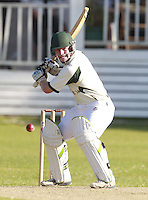 Milo Jennings bats for North London during the Middlesex County Cricket League Division Three game between North London and South Hampstead at Park Road, Crouch End on Sat June 21, 2014.
