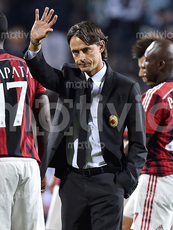 FUSSBALL INTERNATIONAL Trofeo TIM Cup 2014 Juventus Turin - AC Mailand    23.08.2014 Trainer Filippo Inzaghi (AC Mailand)