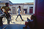 Havana, Cuba, Reparto Vedado, one of the poorest neighborhoods in the city, idle boys, street scene, Gulf of Mexico, Caribbean Sea, Central America, .