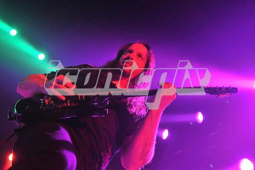 Dream Theater - guitarist John Petrucci performing live at Wembley Arena London UK - 10 Feb 2012.   Photo credit: Sarah Jeynes / IconicPix