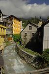 Fast flowing stream in Imst. Imst district,Tyrol, Austria.