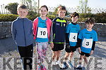 Brody Leen, Lilly Nowak, Matthew O'Sullivan, Aaron and Kevin Horgan at the St Brendans AC 4 Mile Fun Run at the Maurice Collins Memorial Vintage Rally at Ardfert on Easter Sunday.