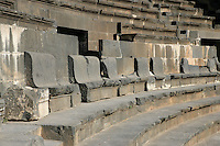 Roman Theatre, built in 150-200 AD. View of the stone steps and seats, Bosra, Syria Picture by Manuel Cohen
