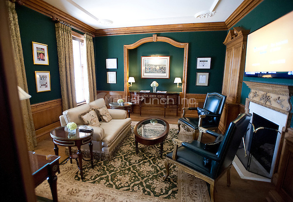 Interior of a sitting room at the Albemarle Estate at the Trump Winery in Charlottesville, Virginia on Tuesday, July 14, 2015.  Its owner, Donald Trump, a candidate for the 2016 Republican nomination for President of the United States, was appearing in Charlottesville for the ribbon cutting opening the property to guests.<br /> Credit: Ron Sachs / CNP/MediaPunch<br /> <br /> (RESTRICTION: NO New York or New Jersey Newspapers or newspapers within a 75 mile radius of New York City)