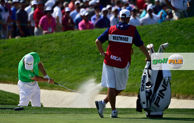 Lee WESTWOOD (ENG) shoots an 80 during fourth round 116th US Open 2016 ,Oakmont Country Club, Pittsburgh,Pennsylvania,USA.
