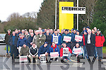 SIPTU members who were involved in a one day industrial dispute, outside the Liebherr Crane factory in Fossa on Tuesday..
