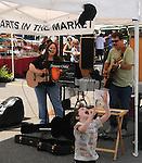 Deuces Child, Gigi Tanglewood & Lou Patrick, performing at Saugerties Farmer's Market, Saugerties, NY on Saturday, July 2, 2011. Photo © Jim Peppler 2011.