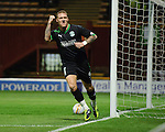 Garry O'Connor celebrates his goal for Hibs